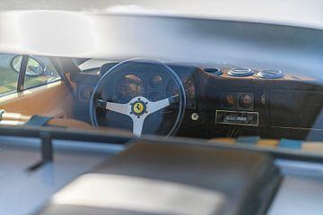 Armaturenbrett eines klassischen Sportwagens Ferrari 365 GT4 BB 1974 von Sjoerd van der Wal
