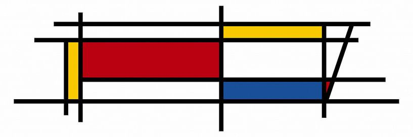 Piet Mondrian Kunst 3 von Marion Tenbergen