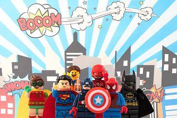Superhelden Lego van Marco van den Arend