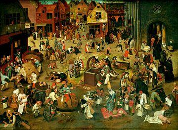 Der Kampf zwischen Karneval und Fasten - Pieter Bruegel