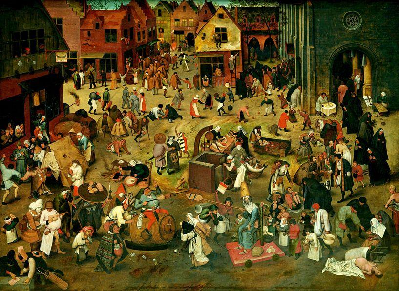De strijd tussen Carnaval en Vasten, Pieter Bruegel van Schilders Gilde