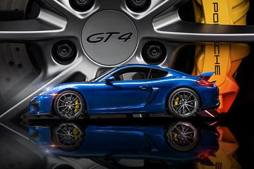 Porsche GT4 saffier blauw design van Maikel van Willegen Photography