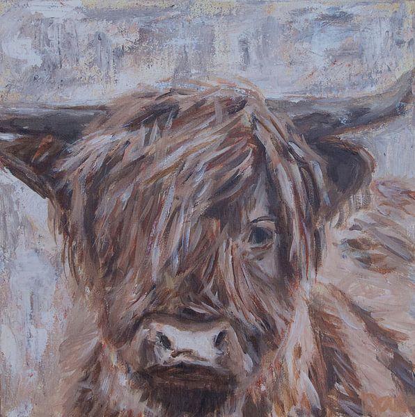 Porträt eines schottischen Hochlandbewohners, Farbe von Mieke Daenen