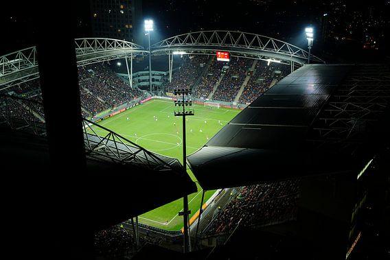 Stadion Galgenwaard in Utrecht tijdens halve finale KNVB beker