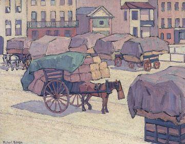 Robert Bevan~Hay Carts, Cumberland Market
