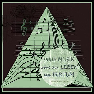 Sprüche - Ohne Musik wäre das Leben ein Irrtum von Christine Nöhmeier
