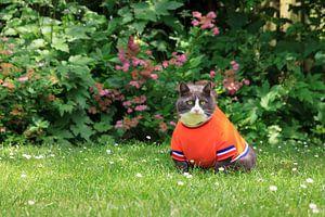 Ria met haar Nederlands elftal shirt