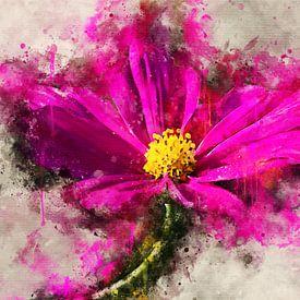 Roze gerbera van Sharon Harthoorn