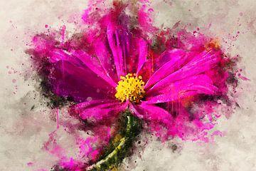 Roze bloem van Sharon Harthoorn