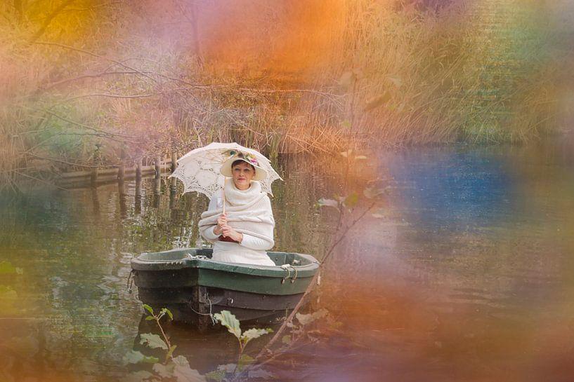 genietend van het zonnetje van Yvette Bauwens