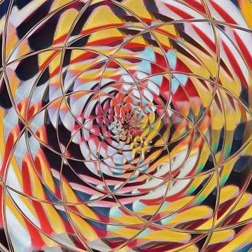 Abstract meerkleurige bloem patroon mandala van Maurice Dawson
