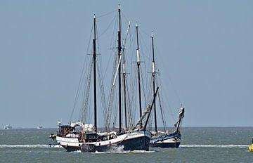 Les navires de la flotte brune Storebaelt et Grootvorst