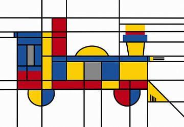 Locomotive Piet Mondrian sur Marion Tenbergen