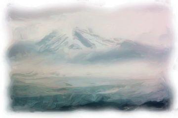 Berg landschap Spitsbergen van Maurice Dawson