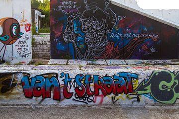 Straat Graffiti van Nancy Bogaert