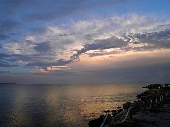 Sunset light over the Black Sea