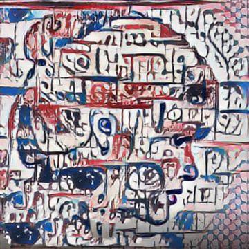 Abstract Inspiratie LXXV van Maurice Dawson