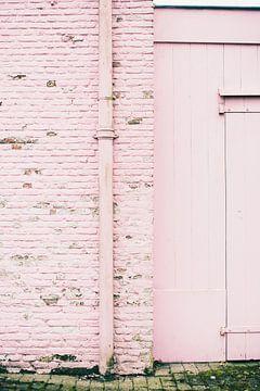 Land van Ooit - roze muur von Anki Wijnen