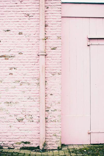 Land van Ooit - roze muur van Anki Wijnen