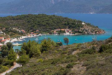 Uitzicht op Posidonio op Samos van Elly Damen