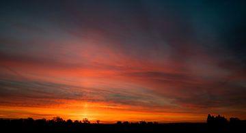 Sonnenaufgang in Lieren, Beginn eines neuen Tages voller Schnee von Studio de Waay
