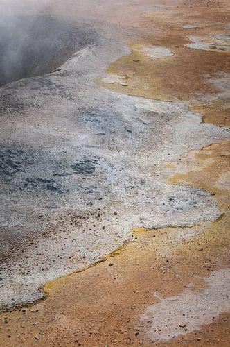 Zwavel landschap op een vulkaan | IJsland