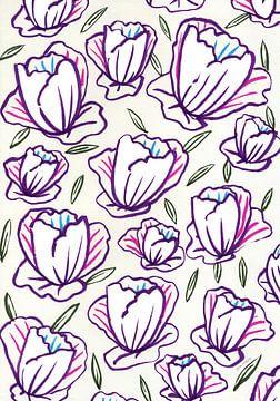 Papieren bloemen voor jou van