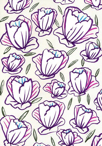 Papieren bloemen voor jou van Eva van den Hamsvoort