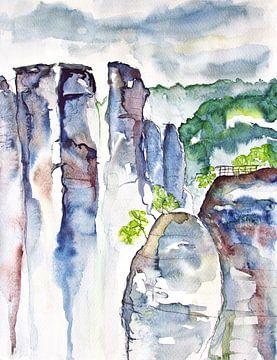 Goose rocks at the Bastei van Andrea Fettweis
