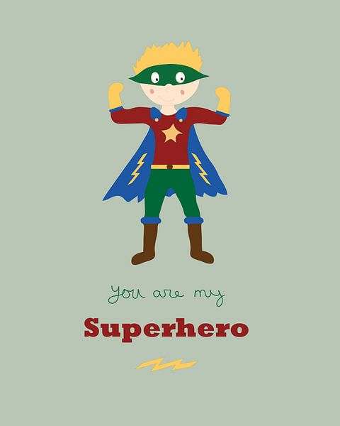 Superheld von Anne Dellaert