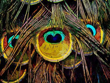 De staart van een pauw van The Art Kroep