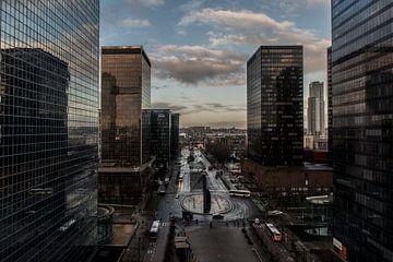 Brussel bij zonsondergang van Ronald De Neve