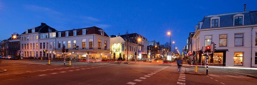 Kruising Wittevrouwensingel met Biltstraat in Utrecht van Donker Utrecht