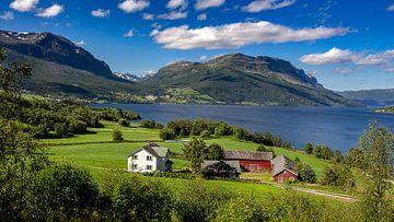 Uitzicht over Vangsmjøsa meer, Noorwegen van Adelheid Smitt