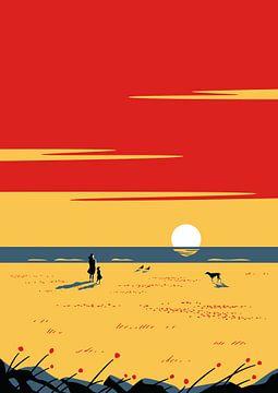 Le millésime du coucher de soleil sur Rene Hamann