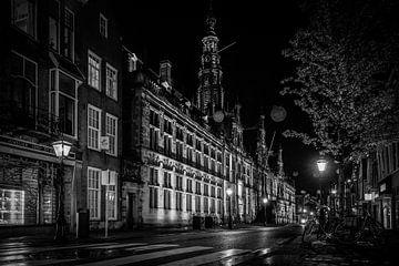 Strickstraße in Schwarz-Weiß von Dirk van Egmond