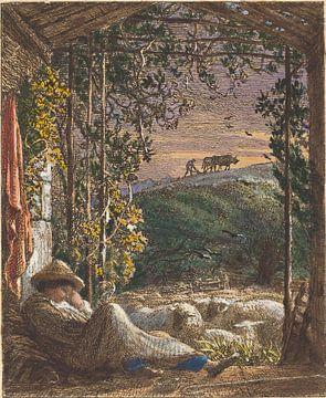Samuel Palmer- Der schlafende Hirte, früher Morgen