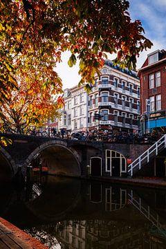 Oudegracht im Herbst von Sander Peters Fotografie