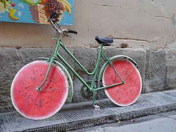Meloen fiets van