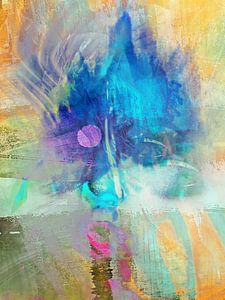 The blue abstract face