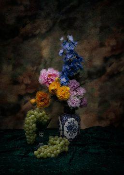 Stilleven met druiven van Guna Andersone