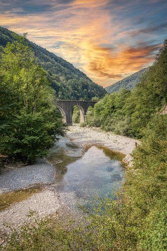 Rivière Baca - Klavže - Slovénie
