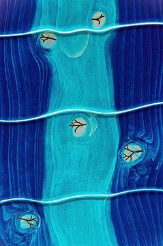 blaue Flußlandschaft von Gerd Herm