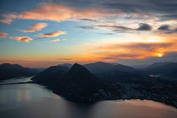 Het meer van Lugano van Felina Photography