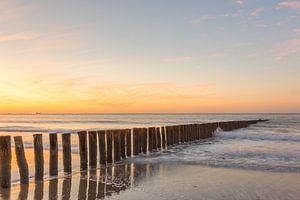 Sonnenuntergang am Strand von Cadzand-Bad