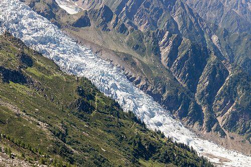 Gletsjer op de flanken van de Mont Blanc