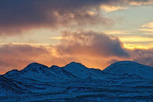 Zonsondergang op IJsland 2016 van