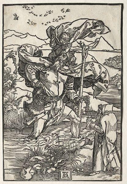 Der heilige Christophorus in der Wildnis mit einem Vogelschwarm, Albrecht Dürer von De Canon