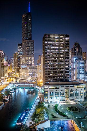 Good night Chicago - Zicht over de Chicago River
