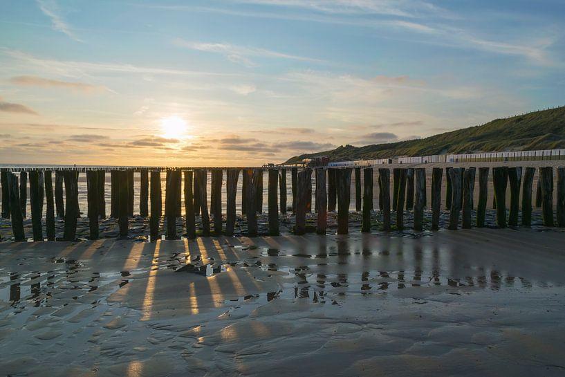 Ici, sur la côte sur Zeeland op Foto